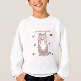 Die Shetlandinseln-Schäferhund-PelzValentinsgruß Sweatshirt