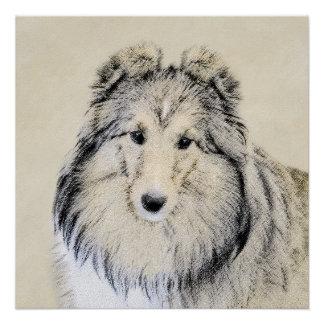 Die Shetlandinseln-Schäferhund Poster