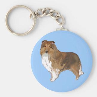 Die Shetlandinseln-Schäferhund Schlüsselanhänger