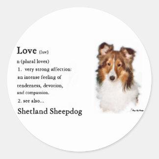 Die Shetlandinseln-Schäferhund Sheltie Geschenke Runder Aufkleber