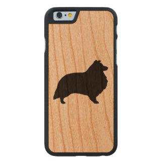 Die Shetlandinseln-Schäferhund-Silhouette Carved® iPhone 6 Hülle Kirsche