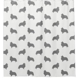 Die Shetlandinseln-Schäferhund-Silhouette-Muster Duschvorhang