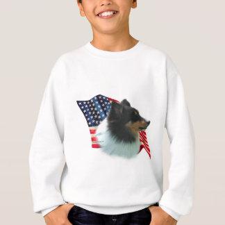 Die Shetlandinseln-Schäferhund-(Tri) Flagge Sweatshirt