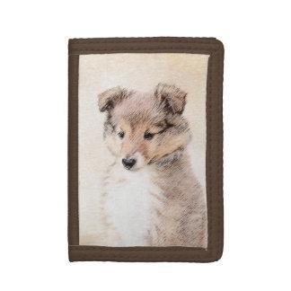 Die Shetlandinseln-Schäferhund-Welpe, der
