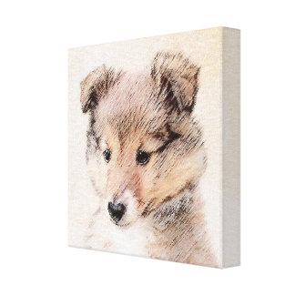 Die Shetlandinseln-Schäferhund-Welpe Leinwanddruck