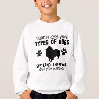 die Shetlandinseln-Schäferhundhundentwürfe Sweatshirt