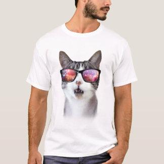 Die Shirts der Hipster-Galaxie-Raum-Katzen-Männer