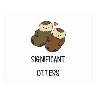 Die Shirts des BEDEUTENDEN OTTER-Paares, Zusätze Postkarte
