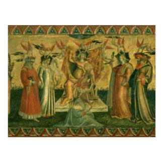 Die sieben Freien Künste, c.1435 Postkarte