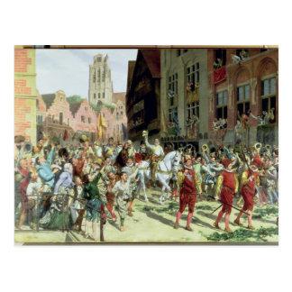 Die Siegesankunft in Rotterdam Postkarte