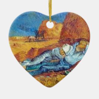 Die Siesta von Vincent van Gogh (Noon) Keramik Ornament