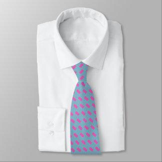 Die silk Krawatte der Männer, lila, Aqua