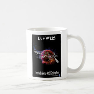 Die Sinti und Roma-Fluch-Bucheinband-einfache Kaffeetasse