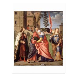 Die Sitzung am Golden Gate mit Heiligen, 1515 ( Postkarte