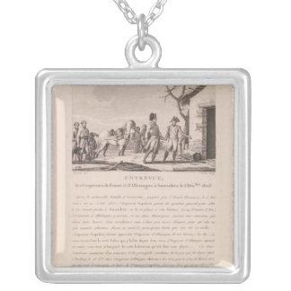 Die Sitzung der Kommandanten Halskette Mit Quadratischem Anhänger
