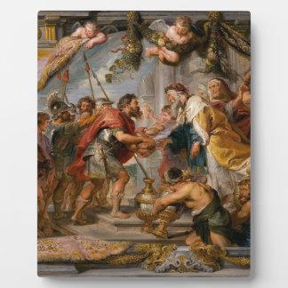 Die Sitzung von Abraham und Melchizedek Rubens von Fotoplatte