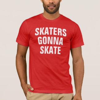 Die Skater der Männer, die zu den Skaten gehen T-Shirt