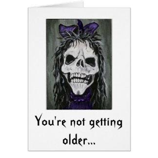 Die Skeleton Frau, die lächelt, werden Sie nicht ä Grußkarte