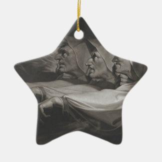 Die sonderbaren Schwestern (Shakespeare, Macbeth) Keramik Stern-Ornament