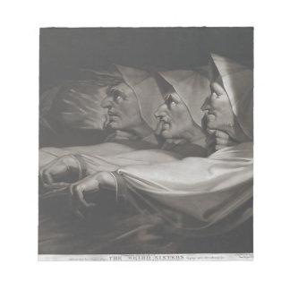 Die sonderbaren Schwestern (Shakespeare, Macbeth) Notizblock