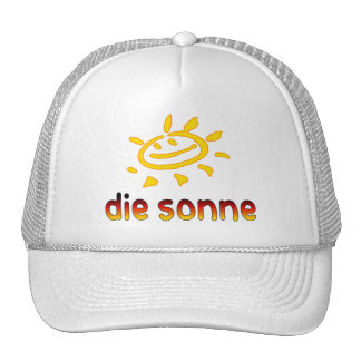 Die sonne der Sun in den deutschen Sommer-Ferien Trucker Caps