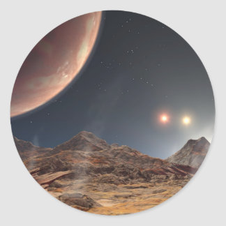 Die Sonnen HD188753 drei NASA Runder Aufkleber