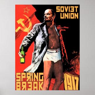 Die Sowjetunions-Frühjahrsferien-Plakat 1917 Poster