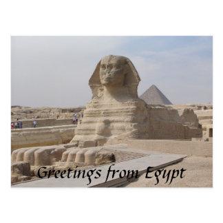 Die Sphinx, Kairo Postkarte