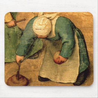 Die Spiele der Kinder: Detail eines Mädchenspielen Mauspad