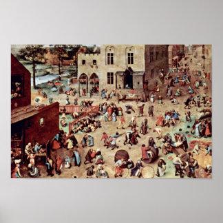 Die Spiele der Kinder durch Bruegel D. Ä. Pieter ( Plakate