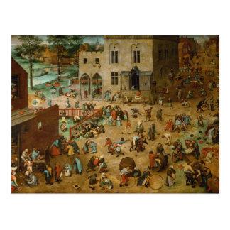 Die Spiele der Kinder durch Pieter Bruegel das Postkarte