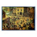 """""""Die Spiele Kinder"""" Pieter Bruegels - 1560 Karte"""