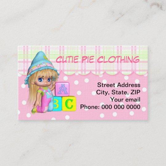 Die Spielwaren Der Visitenkarte Kinder Kleidung