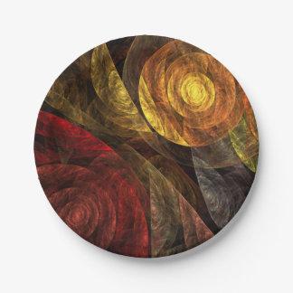Die Spirale der Leben-abstrakten Kunst Pappteller