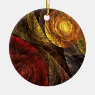 Die Spirale Leben-der abstrakten Keramik Ornament