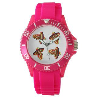 Die sportliche rosa Uhr der Frauen