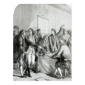 Die Staat-Unabhängigkeitserklärung Postkarte