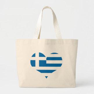 Die Staatsflagge von Griechenland Jumbo Stoffbeutel