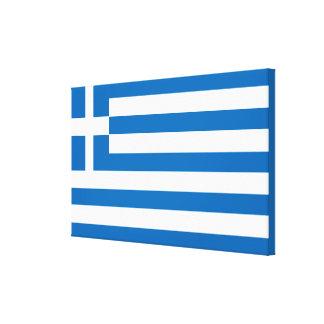 Die Staatsflagge von Griechenland Leinwanddruck