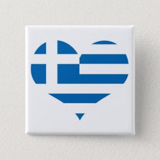 Die Staatsflagge von Griechenland Quadratischer Button 5,1 Cm