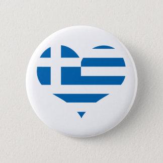Die Staatsflagge von Griechenland Runder Button 5,1 Cm
