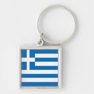Die Staatsflagge von Griechenland Schlüsselanhänger