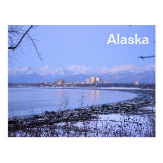 Die Stadt des Anchorages, Alaska Postkarte