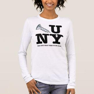 Die Stadt, die verwendete, um coole Damen Langarm T-Shirt