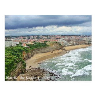 Die Stadt von Biarritz - ein Panoramablick Postkarte