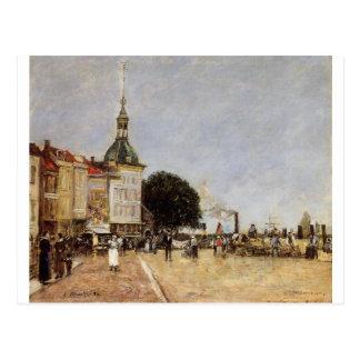 Die Stadt von Dordrecht durch Eugene Boudin Postkarten