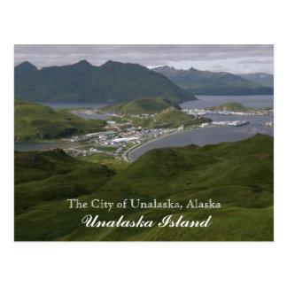 Die Stadt von Unalaska, Alaska Postkarte