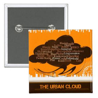 Die städtische Wolke Anstecknadelbutton