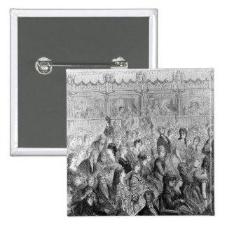Die Ställe, Covent Garten-Oper Quadratischer Button 5,1 Cm