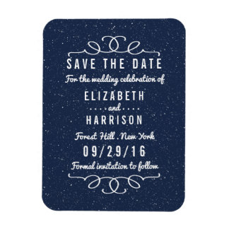 Die Starry Nacht, die Save the Date Wedding ist Magnet